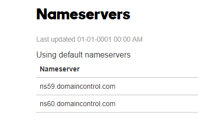 godaddy default dns