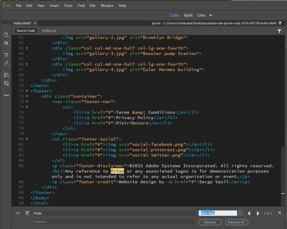 code editor web tech preneur