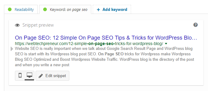 12 Simple On Page SEO Tips & Tricks For WordPress Blog