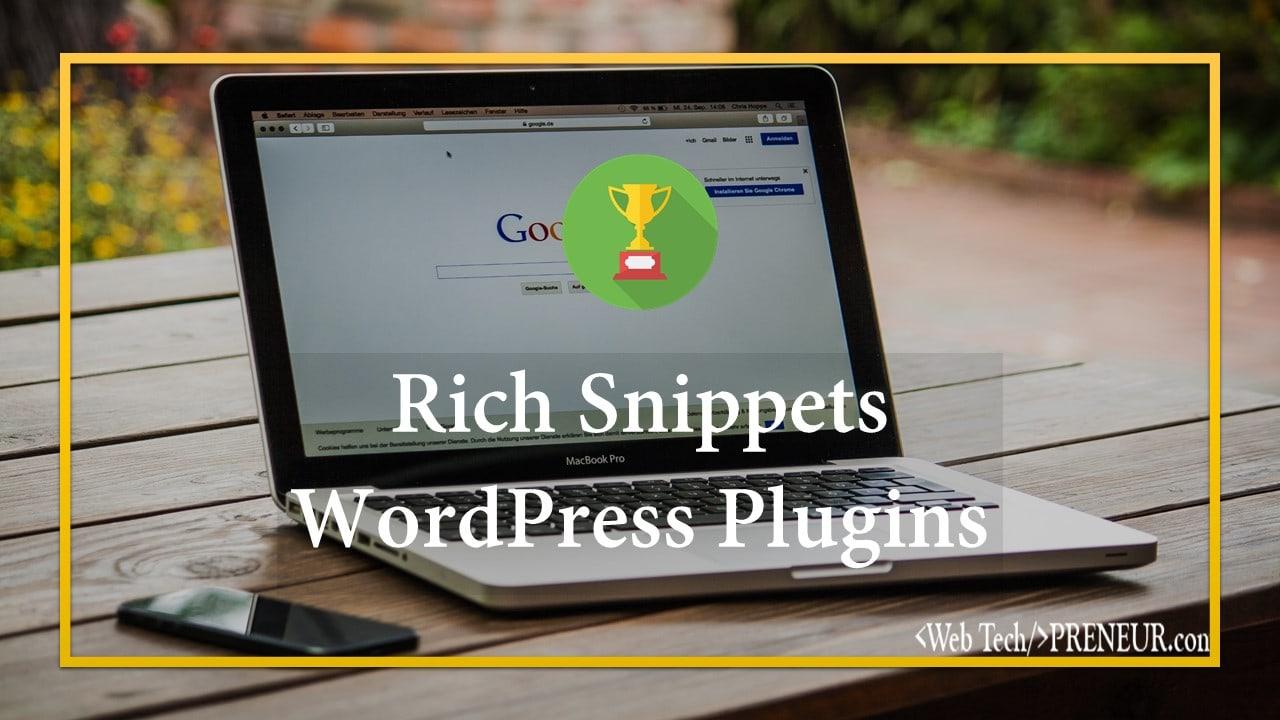 rich Snippets Web Tech Preneur Wordpress Plugins