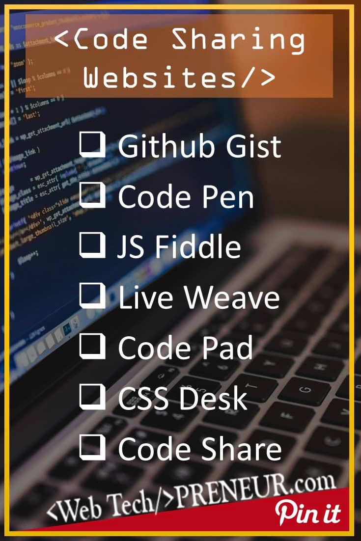 7 Useful Code Sharing Websites for Web Developers & Designers