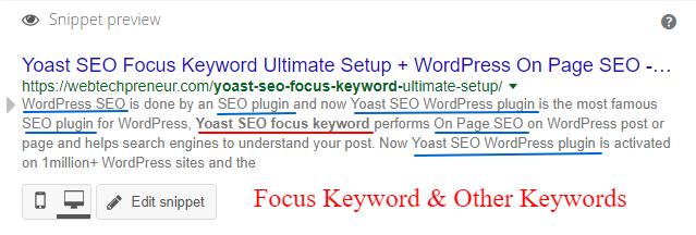 Set Yoast SEO Focus Keyword in WordPress