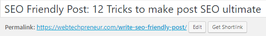 seo friendly wordpress post url
