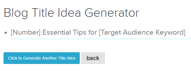 Blog Title Idea Generator Inbound Now