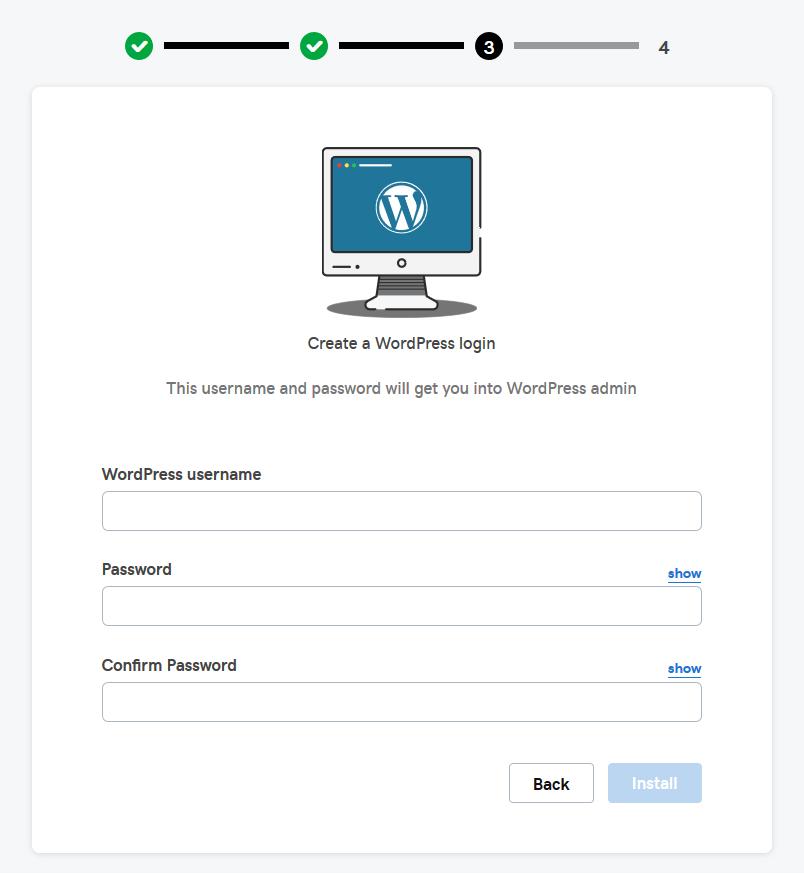 Create a WordPress Login