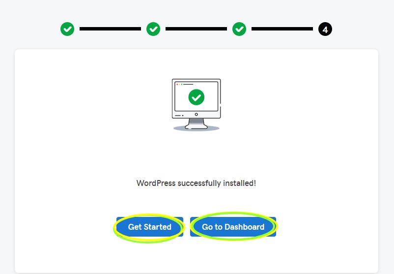 WordPress install successfully.