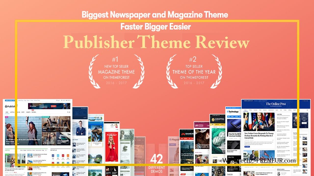 publisher wordpress theme preview web tech preneur themes yellow border