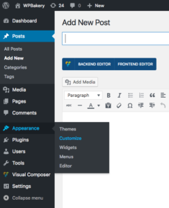 How to customize your theme with WordPress visual composer