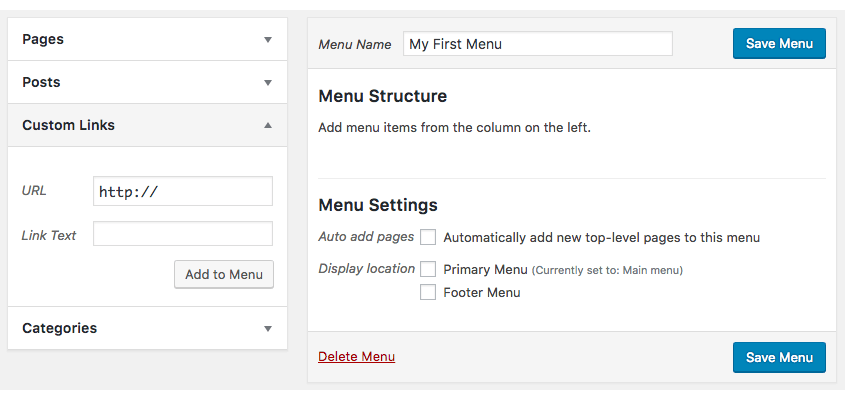 Customise your WordPress menu